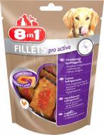 Снеки 8in1 для собак Куряче філе для покращення активності 80 г