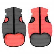 Куртка Airy Vest двостороння для собак XS22 коралово-сіра