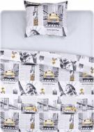 Комплект постельного белья New York 1,5 серый с желтым UP! (Underprice)