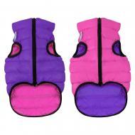 Куртка Airy Vest двостороння для собак М40 рожево-фіолетова