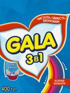Пральний порошок для ручного прання Gala 3 в 1 Яскраві кольори 0,4 кг