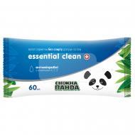 Вологі серветки Сніжна Панда для рук та тіла Essential Clean вітаміни 60 шт.