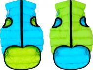 Куртка Airy Vest двостороння для собак XS 25 салатово-блакитна