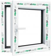 Вікно поворотно-відкидне Steko S500 60 800x800 мм праве