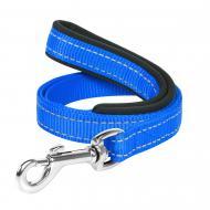 Повідець Dog Extreme з нейлону з прогумованою ручкою 2х122см блакитний