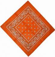 Бандана с рисунком 55х55 Оранжевая (K003)