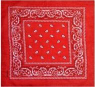 Бандана с рисунком 55х55 Красная (K006/2)