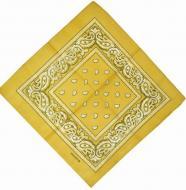 Бандана с рисунком 55х55 Желтая (K016/2)