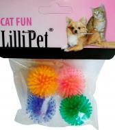 Іграшка для котів Lilli Pet М'ячики ЇЖАЧОК,різнокольорові