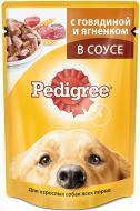 Консерва Pedigree для собак 100 г з яловичиною та ягням