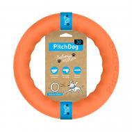 Игрушка для собак PitchDog кольцо для апортировки d 28 см оранжевое