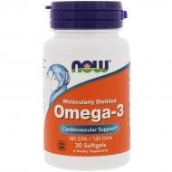 Рыбий жир Now Foods Omega-3 1000 мг 30 гелевых капсул (NF1649)