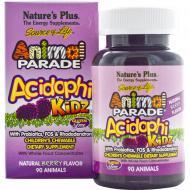 Пробиотический комплекс Natures Plus Animal Parade для улучшения пищеварения для детей 90 жевательны