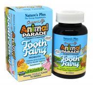 Пробиотик для детей Natures Plus Tooth Fairy Animal Parade для здоровья зубов и полости рта 90 жеват