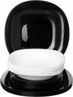 Сервіз столовий Carine Blanc & Noir 18 предметів на 6 персон Luminarc