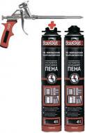 Піна монтажна BauGut PRO 2x750 мл + пістолет