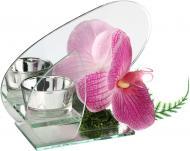 Свічник з орхідеєю Екліпс рожевий EBA14A016