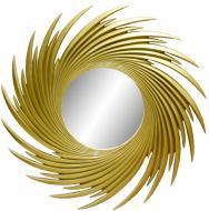 Зеркало Embawood Солнце 1000x1000 мм светло-золотой
