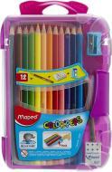 Олівці кольорові Color Peps Smart 12 кольорів у пластиковому футлярі Maped