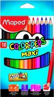 Олівці кольорові Color Peps Maxi 12 кольорів Maped