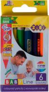 Олівці кольорові mini JUMBO ZiBi