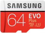 Карта пам'яті Samsung microSDXC 64 ГБ Class 10 (MB-MC64GA/RU)