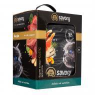 Корм для довгошерстих котів Savory Промо 2 кг + 400 г Свіжий лосось та біла риба