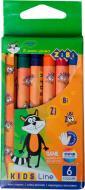 Олівці воскові 6 кольорів ZiBi