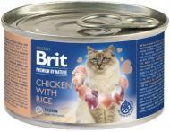 Консерва для дорослих котів Brit Premium 100618 курка і рис 200 г