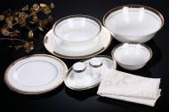 Сервіз столовий Rich Gold 28 предметів на 6 персон Fiora