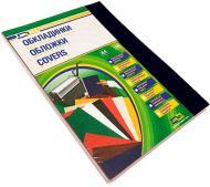 Обкладинка для брошурування D&A картон під шкіру Delta Color A4 чорний 1220101021300 230 мкм 100 шт.