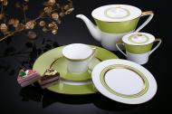 Сервіз для чаю Chambery Lemon Green 21 предмет на 6 персон Narumi