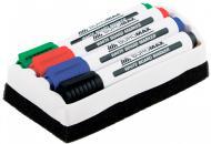 Набор маркеров Buromax для магнитных досок + мочалка BM.8800-84 разноцветный