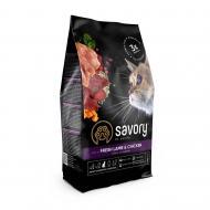 Корм Savory для стерилізованих котів 400 г (ягня та курка)