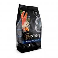 Корм Savory сухий для довгошерстих кішок Свіжий лосось і біла риба 400 г