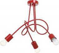 Люстра стельова ALFA Tango 3x60 Вт E27 червоний 23183