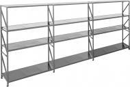 Стелаж KIEVMODERN металевий Атлант-400 12 полиць 2400x556x550 мм сірий
