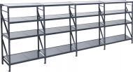 Стелаж KIEVMODERN металевий Атлант-400 16 полиць 1800x556x550 мм сірий