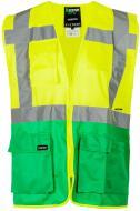Жилет сигнальный Sizam Coventry р. S рост универсальный 30144 зеленый с желтым