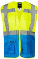 Жилет сигнальный Sizam Coventry р. M рост универсальный 30151 желтый с голубым