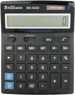 Калькулятор BS-0222 професійний 140 x 176 x 45 мм BRILLIANT