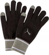 Варежки Puma Knit Gloves 04172601 р. L/XL черно-серый
