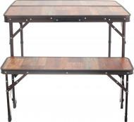 Комплект мебели Grilland стол и лавочки раскладные HXPT-8829-AXC коричневый