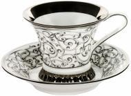 Чашка с блюдцем Византия 200 мл платина Rudolf Kampf