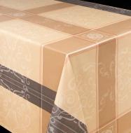 Скатертина Лайт 130x120 см кремово-коричневий