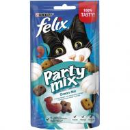 Ласощі Felix для дорослих котів Party Mix Океанічний Мікс зі смаком лосося, форелі 60 г