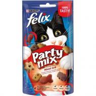 Ласощі Felix для дорослих котів Party Mix Гриль Мікс зі смаком курки, яловичини та лосося 60 г