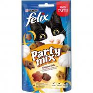 Ласощі Felix для дорослих котів Party Mix Оріджинал Мікс зі смаком курки, печінки та індички 60 г