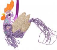 Декоративна підвіска Півник фіолетовий 10 см LXA-9074