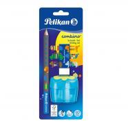 Набір для навчання письму Combino Blue олівець + гумка + чинка блакитний 811217B Pelikan